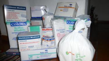 Spenden für die Krankenstation